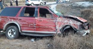 Tres heridos tras un accidente automovilístico en Ixmiquilpan