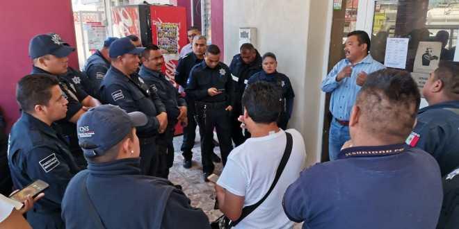 Policías de Tlahuelilpan se manifiestan; demandan aumento salarial
