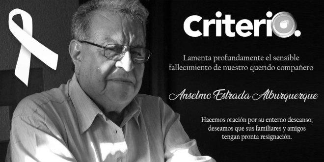 Fallece Anselmo Estrada Alburquerque, un periodista ejemplar