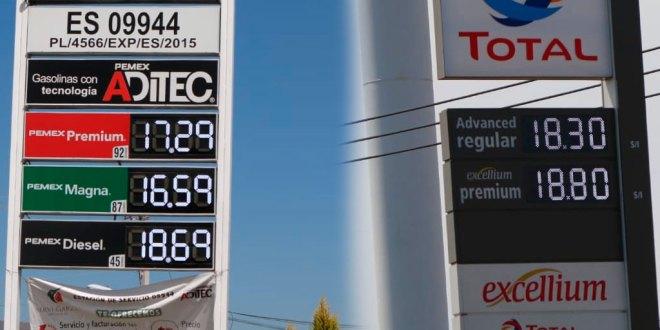 Baja costo de la gasolina en Pachuca hasta $16.49 el litro