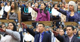 Toman posesión 12 nuevos diputados del Congreso de Hidalgo; falta Sosa