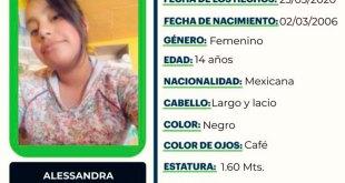 Se busca a Alessandra Mendoza Hernández, desapareció en Tula