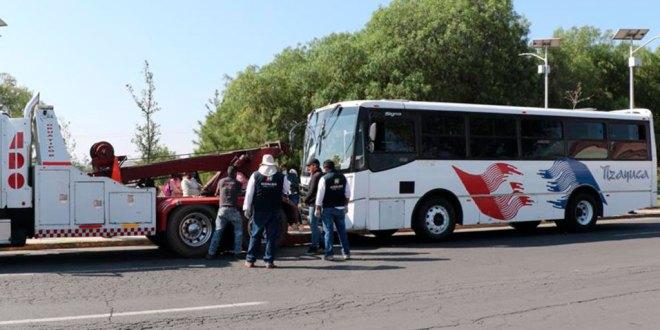 Por incumplir medidas sanitarias, sancionan unidades de transporte en Hidalgo