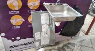 Denunciarán actos vandálicos en uso de los lavamanos en Huejutla