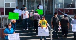 Se manifiestan campesinos de Acatlán en Gobierno de Hidalgo