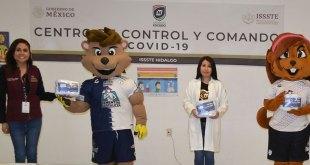 Grupo Pachuca comenzó con la donación de 15 mil cubrebocas al sector Salud