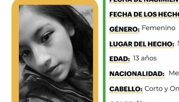 Activan Alerta Amber por menor no localizada en Hidalgo