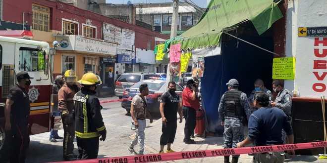 Sorprende flamazo a locatarios del mercado de Tulancingo