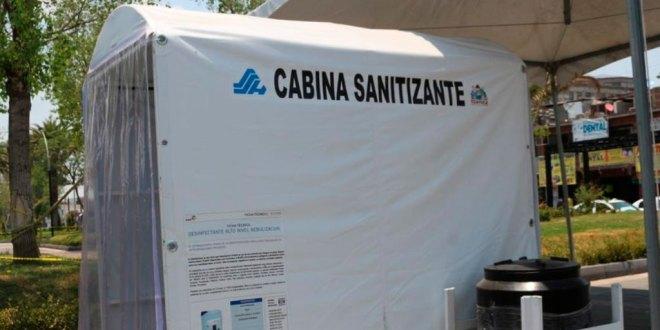 Para evitar Covid-19, instalan cabina sanitizadora en Tizayuca