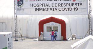 Atienden a 109 pacientes en dos meses en hospital inflable de Pachuca