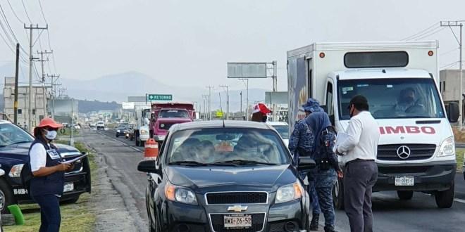 Supervisa Contraloría estatal los filtros del Hoy no Circula en Hidalgo