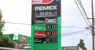 Este lunes, gasolina Magna se vende de $15.90 hasta $19.25 en Pachuca