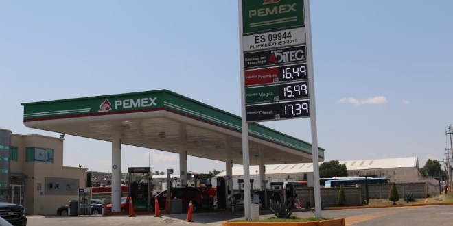 Luego de 2 meses, sube el precio de la gasolina en Pachuca