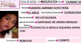 Se busca a Sandra Amparo Soto Peña, desapareció en Santiago de Anaya