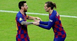 Tienen Lionel Messi y Antoine Griezmann discusión