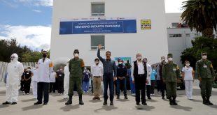 Recorre Fayad hospital para atención de Covid-19 en Pachuca