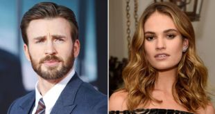Chris Evans y Lily James son captados de madrugada en Londres