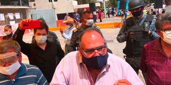 Policía estatal Gobierno retiro antorchistas