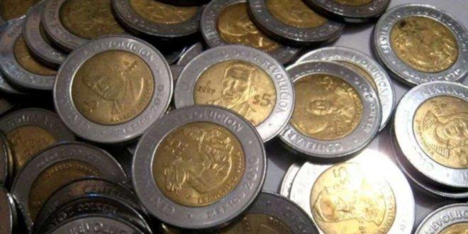 Hasta en mil pesos se venden monedas de 5 pesos del Bicentenario