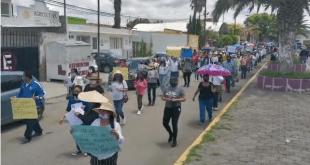 Marchan en Tlahuelilpan ante desaparición de Mariana Zavala