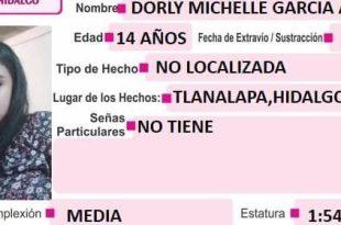 Se busca a Dorly Michelle García Álvarez; se extravió en Tlanalapa