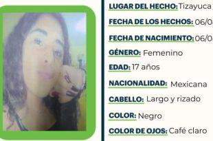 Se busca a Alicia Fernández Romero Sánchez; se extravió en Tizayuca