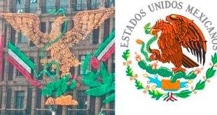Cambian Escudo Nacional adornos patrios zócalo