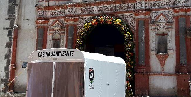 Habilitan cabina contagios parroquia Tizayuca