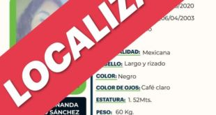 Localizan a Alicia Fernanda Romero Sánchez