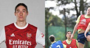 Entrena Marcelo Flores, joven mexicano, en el Arsenal