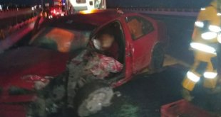 accidenta México-Pachuca prensado vehículo