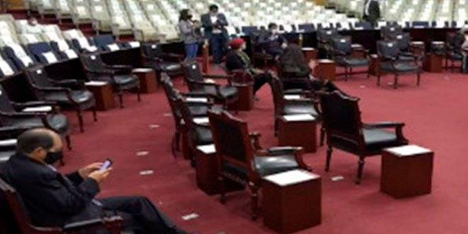 Suspenden sesión elección concejos receso