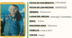 Laura Michel Álvarez extravió en Santiago Tulantepec