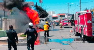 incendia ambulancia colonia Real de Minas Pachuca