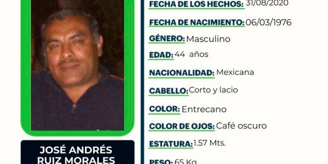 busca José Andrés Ruiz desapareció Tizayuca