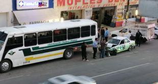 Chocan unidades transporte Matilde México-Pachuca