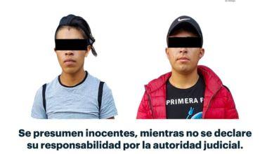 Detienen a dos droga Mineral de la Reforma