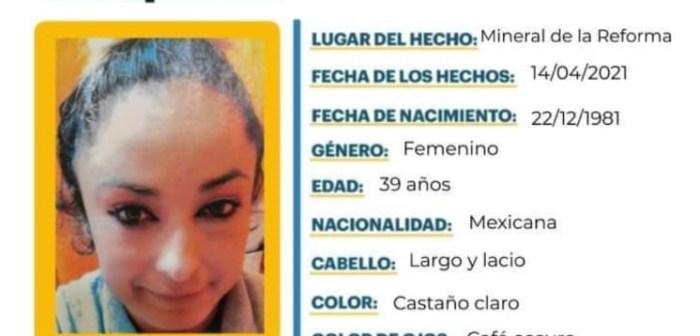 Se busca a Annel Aguilar, de 39 años; se extravió en Mineral de la Reforma