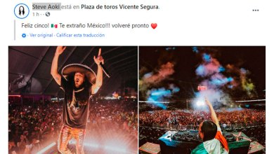 Steve Aoki felicita México foto Pachuca