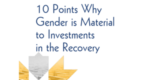 10 Points Why Gender is Material to Investments in the Recovery