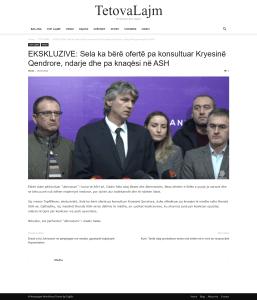 TetovaLajm: EKSKLUZIVE: Sela ka bërë ofertë pa konsultuar Kryesinë Qendrore, ndarje dhe pa knaqësi në ASH