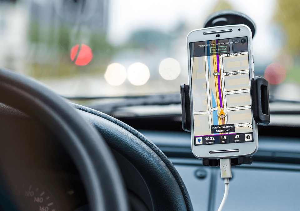gps map on cell phone