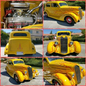 1936 plymouth coupe classic car paint