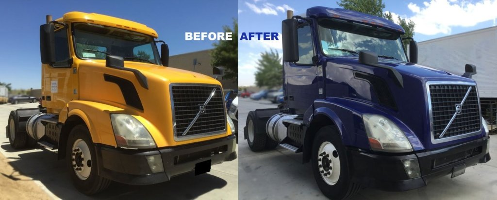 Volvo Rig - truck body and paint
