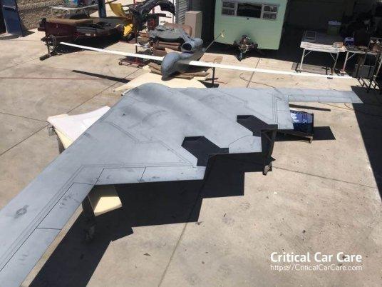 Northrup signage restoration B-2 Stealth Bomber