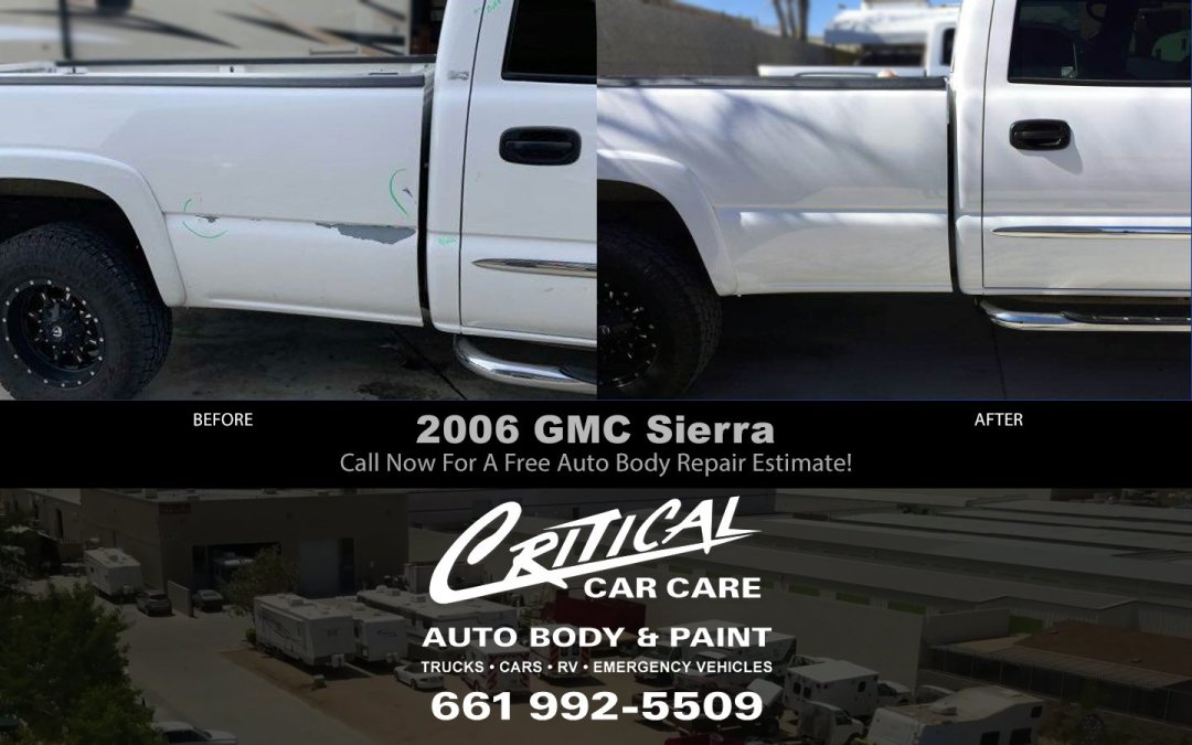 2006 GMC Sierra Pickup Before / After Auto Body Repair