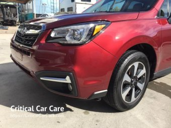 Subaru Outback auto body repair paint