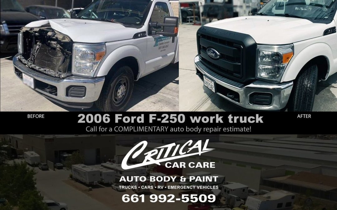 2006 Ford F-250 work truck before and after auto repair!