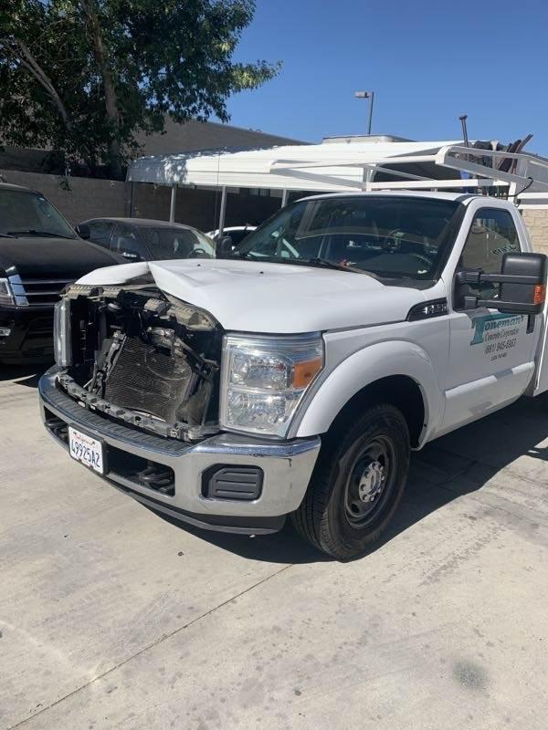 truck auto body repair before