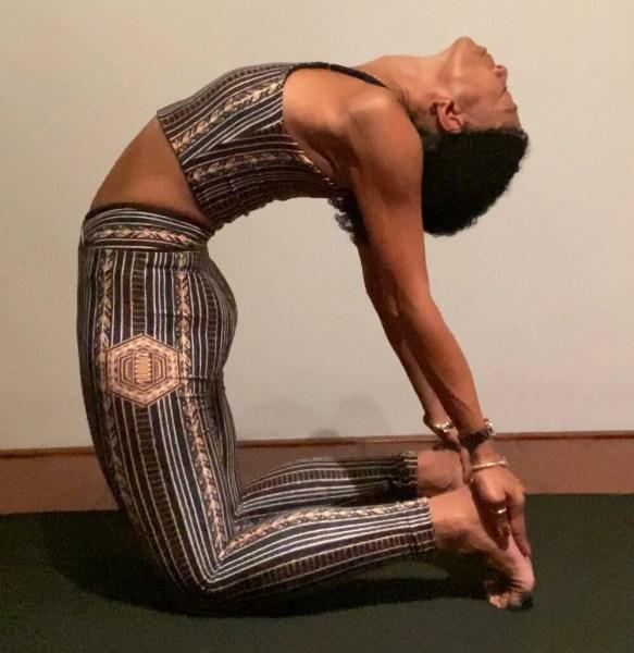 Iris Reyes critical alignment   Ustrasana   Online yoga classes